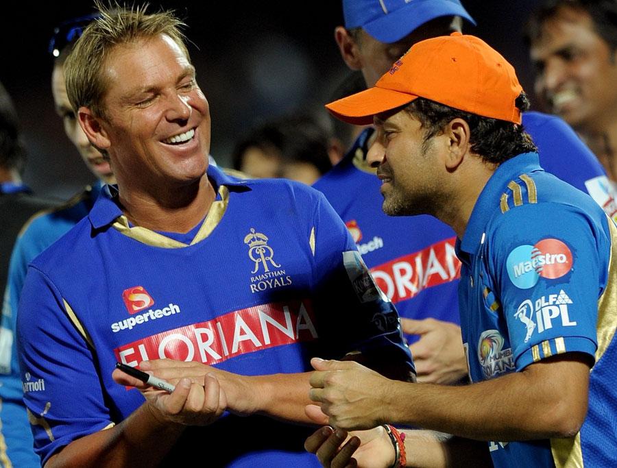 Shane Warne (left) and Sachin Tendulkar.